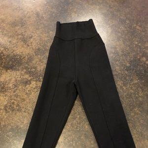 aquilano rimondi Pants - Aquilano Rimondi black wool knit cropped legging 2